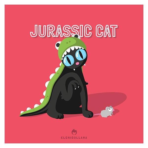 12 de las mejores series y películas representadas por gatos en estas divertidas ilustraciones 4324850