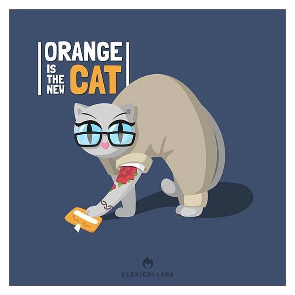 12 de las mejores series y películas representadas por gatos en estas divertidas ilustraciones 5497380
