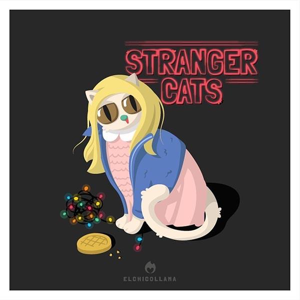 12 de las mejores series y películas representadas por gatos en estas divertidas ilustraciones 0279560