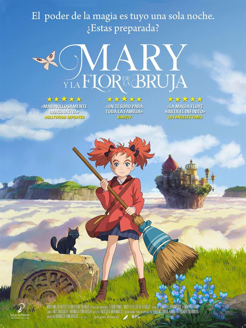 Mary y la flor de la bruja - Cartel
