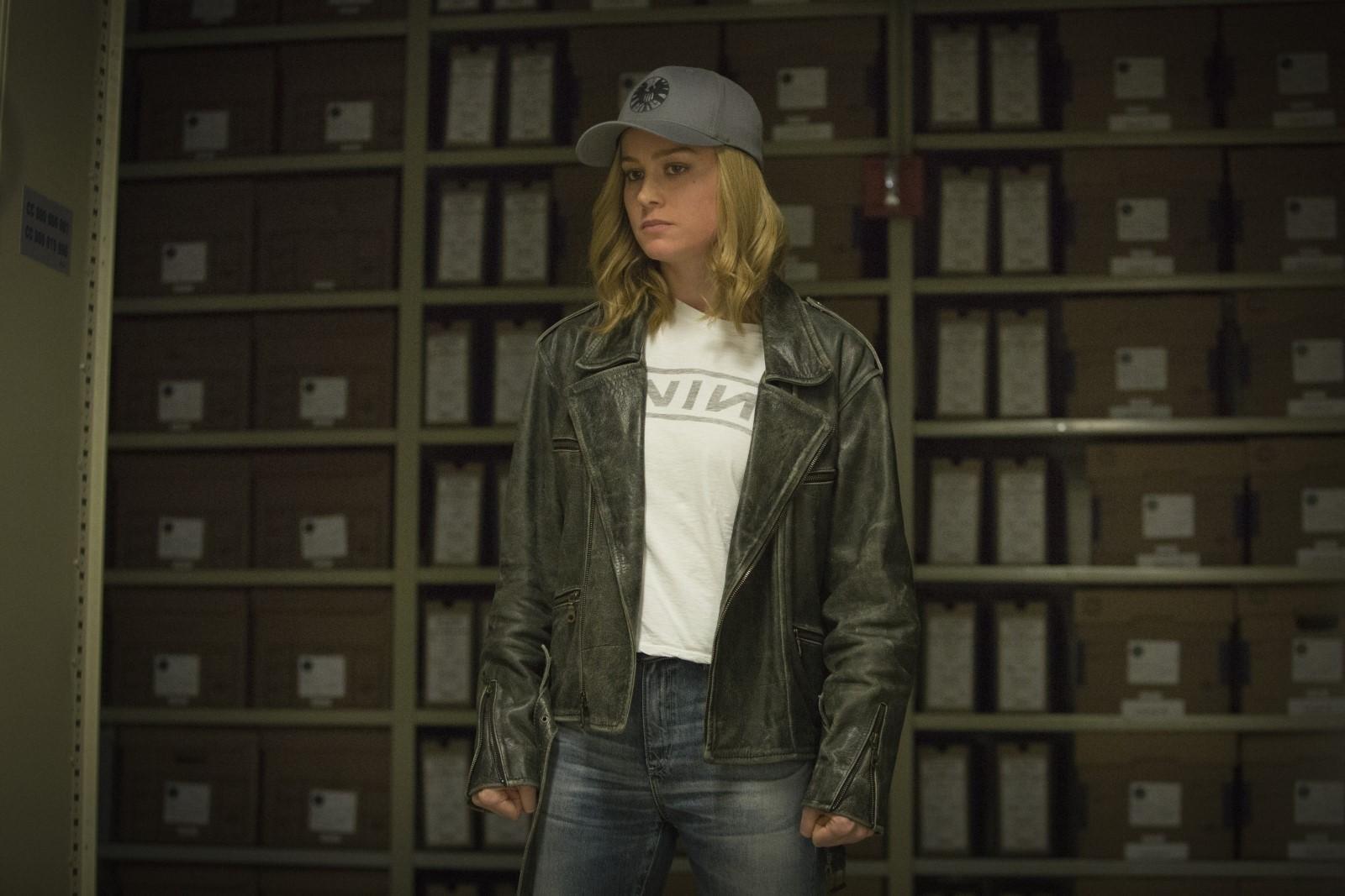 Capitana Marvel con Brie Larson