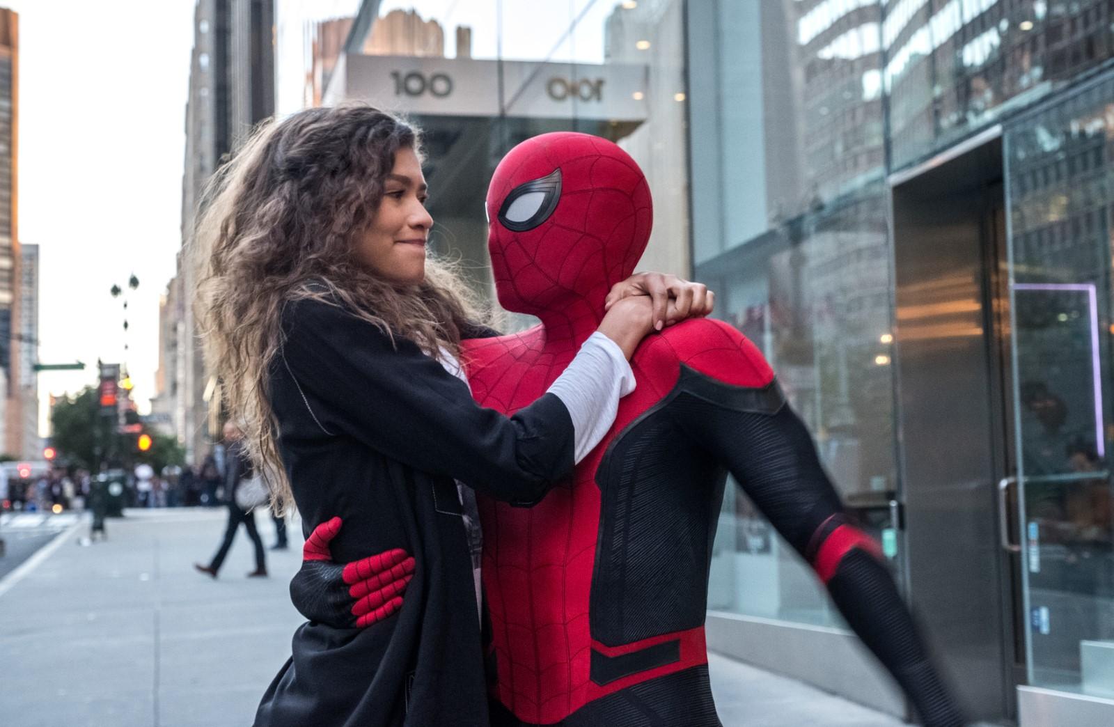 Zendaya y Tom Holland en Spider-Man: Lejos de casa