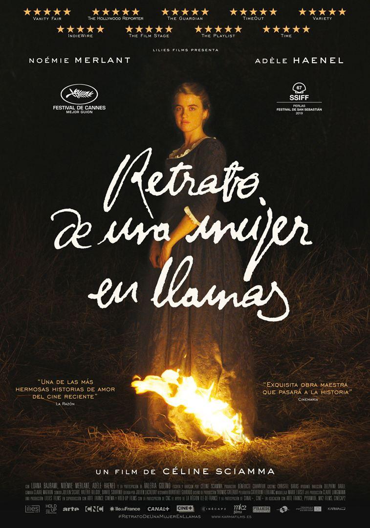 Retrato de una mujer en llamas - Cartel
