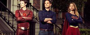 'Supergirl': Primera imagen de Grant Gustin y Melissa Benoist en el set de rodaje