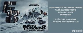 ¡SORTEAMOS 5 ENTRADAS DOBLES PARA EL PREESTRENO DE 'FAST&FURIOUS 8' MÁS 5 PÓSTERS FIRMADOS POR LOS PROTAGONISTAS DE LA PELÍCULA!