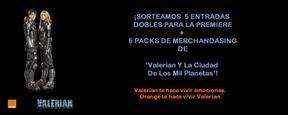 ¡SORTEAMOS 5 ENTRADAS DOBLES PARA LA PREMIERE + PACKS DE MERCHANDISING DE 'VALERIAN Y LA CIUDAD DE LOS MIL PLANETAS'!