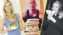 De las comilonas de Dwayne Johnson al ponche de huevo para desayunar de Marilyn Monroe. Analizamos las dietas de Hollywood