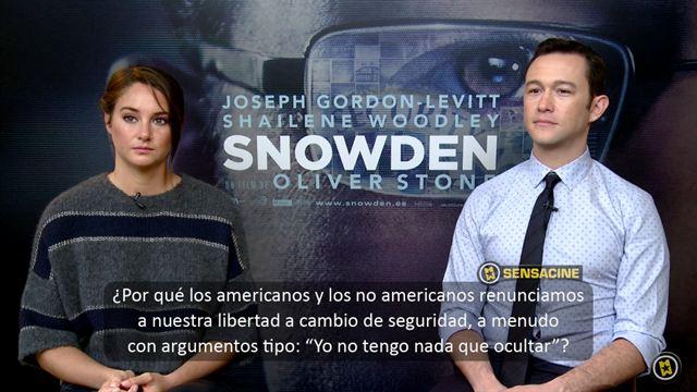 Joseph Gordon-Levitt, Shailene Woodley Interview 2: Snowden