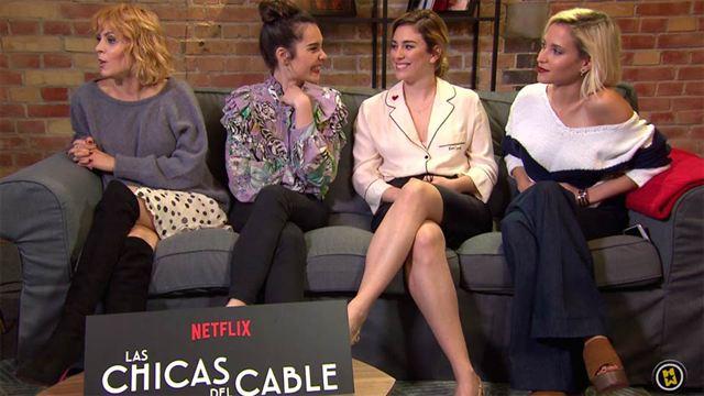 Maggie Civantos, Nadia de Santiago, Ana Fernández García, Blanca Suárez Interview 4: Las Chicas del Cable