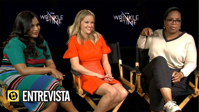 Mindy Kaling, Oprah Winfrey, Reese Witherspoon Interview 3: Un pliegue en el tiempo (A Wrinkle in Time)