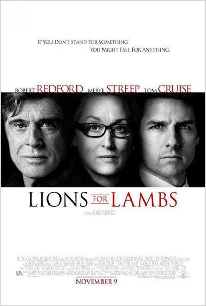 Leones por corderos : Cartel Meryl Streep, Robert Redford