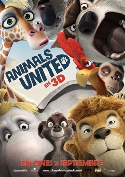 Animals United en 3D : cartel