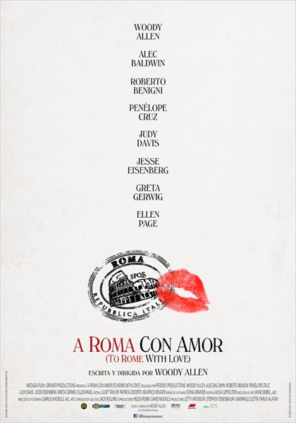 A Roma con amor (To Rome with Love) : cartel