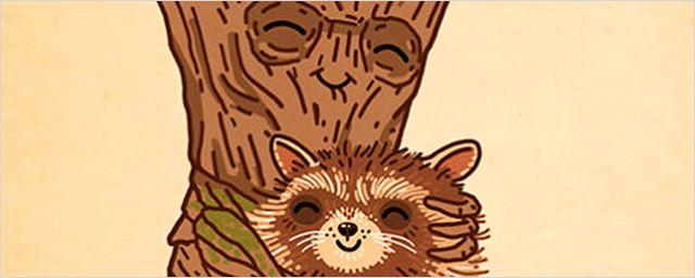 'Guardianes de la galaxia': Los mejores 'fan art' de Groot y Mapache Cohete