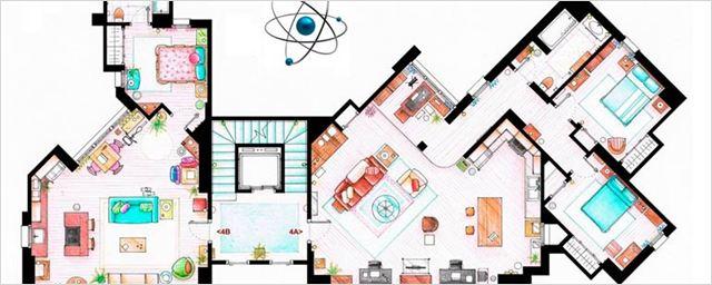 Aquí tienes los planos de los apartamentos de tus series de televisión favoritas