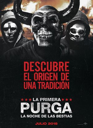 La primera purga: La noche de las bestias : Cartel