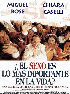 ¿El sexo es lo más importante en la vida?