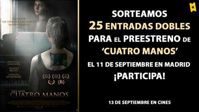 ¡SORTEAMOS 25 ENTRADAS DOBLES PARA EL PREESTRENO EN MADRID DE 'CUATRO MANOS' (EN CINES 13 DE SEPTIEMBRE)!