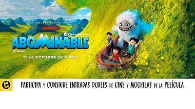¡SORTEAMOS 5 ENTRADAS DOBLES Y 5 MOCHILAS DE 'ABOMINABLE'!