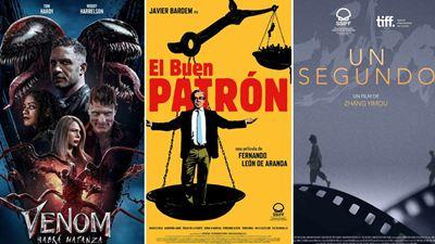 'Venom: Habrá matanza', 'El buen patrón' y 'Un segundo' destacan entre los estrenos de cine del fin de semana