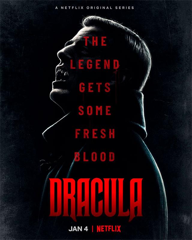 Póster oficial de 'Drácula'. Crédito: Netflix.