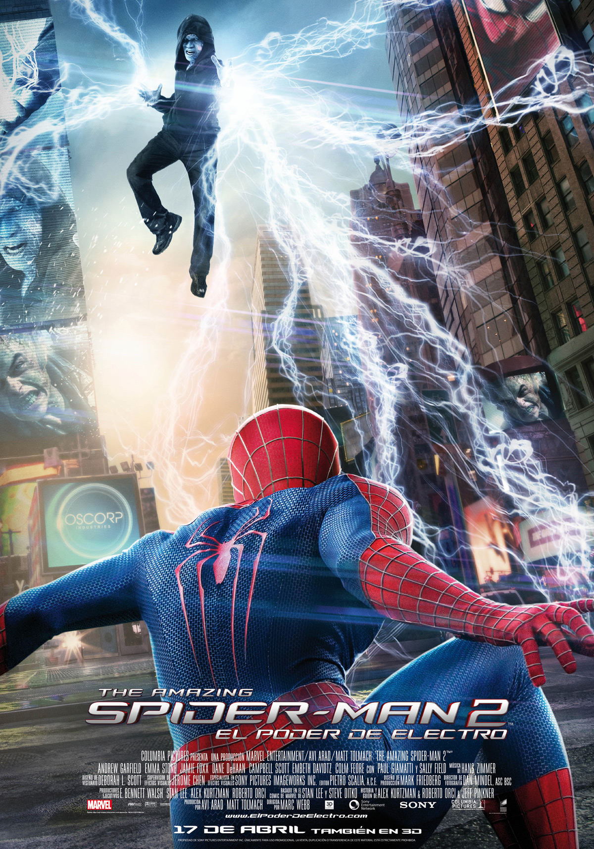 the amazing spider-man 2: el poder de electro - película 2014
