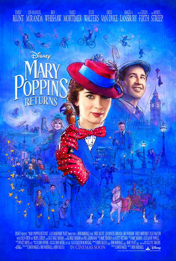 El Regreso de Mary Poppins, póster oficial