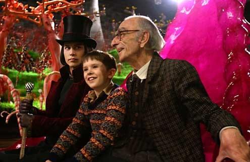 Charlie y la fábrica de chocolate: Freddie Highmore, Johnny Depp