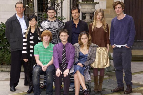 Harry Potter y el Cáliz de Fuego : Foto Clémence Poésy, Daniel Radcliffe, David Heyman, Emma Watson, Katie Leung