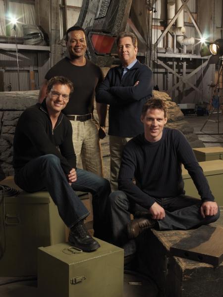 Stargate SG 1 : Foto Beau Bridges, Ben Browder, Christopher Judge, Michael Shanks (I)