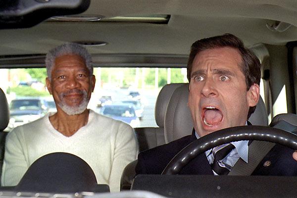 Sigo como Dios: Morgan Freeman, Steve Carell