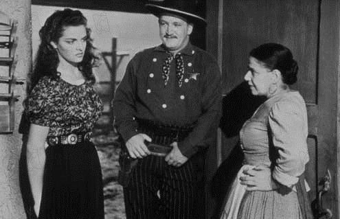El forajido : Foto Howard Hughes, Jane Russell, Joe Sawyer