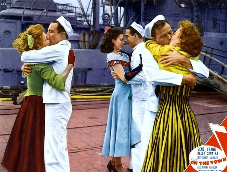 Un día en Nueva York : Foto Ann Miller, Betty Garrett, Frank Sinatra, Gene Kelly, Vera-Ellen