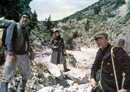 Los cañones de Navarone: Gregory Peck, Anthony Quinn, Jack Lee Thompson, Irène Papas