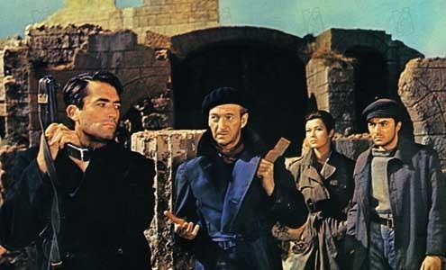 Los cañones de Navarone: David Niven, James Darren, Jack Lee Thompson, Gia Scala, Gregory Peck