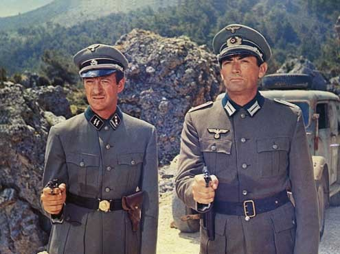 Los cañones de Navarone: Gregory Peck, Jack Lee Thompson, David Niven