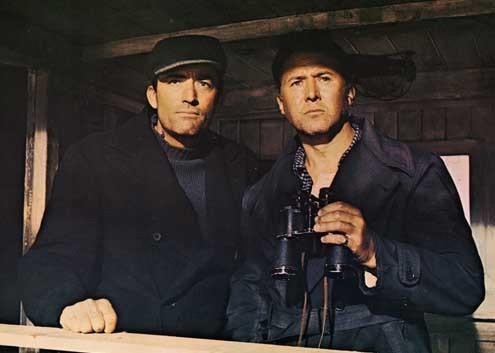 Los cañones de Navarone: Gregory Peck, Jack Lee Thompson, Anthony Quayle