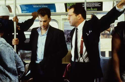 La hoguera de las vanidades: Tom Hanks, Bruce Willis