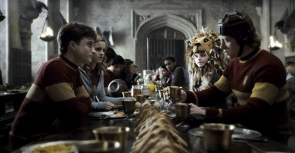 Harry Potter y el Misterio del Príncipe : Foto Daniel Radcliffe, Emma Watson, Evanna Lynch, Rupert Grint