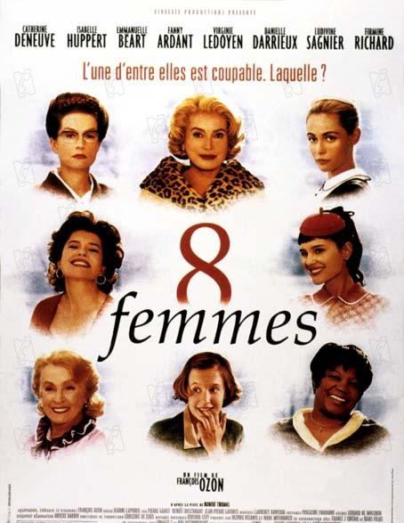 8 mujeres : Foto Catherine Deneuve, Danielle Darrieux, Emmanuelle Béart, Fanny Ardant, Firmine Richard