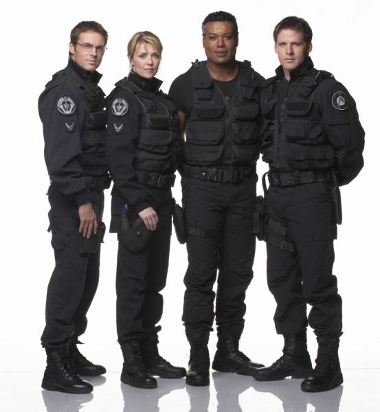 Stargate SG 1 : Foto Amanda Tapping, Ben Browder, Christopher Judge, Michael Shanks (I)