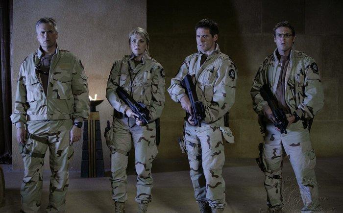 Stargate SG 1 : Foto Amanda Tapping, Ben Browder, Michael Shanks (I), Richard Dean Anderson
