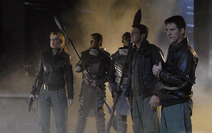 Stargate SG 1 : Foto Amanda Tapping, Ben Browder, Michael Shanks (I)