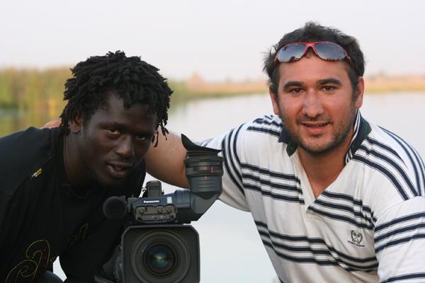 Foto Christian Karim Chrobog, Emmanuel Jal