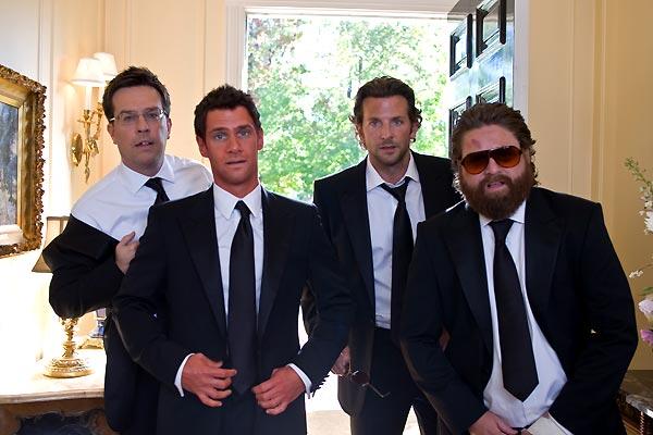 Resacón en Las Vegas: Bradley Cooper, Ed Helms, Zach Galifianakis, Justin Bartha