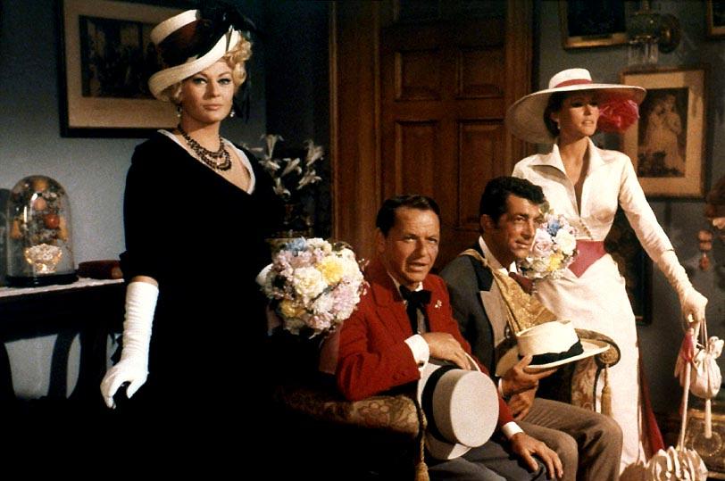 4 tíos de Texas : Foto Anita Ekberg, Dean Martin, Frank Sinatra, Ursula Andress