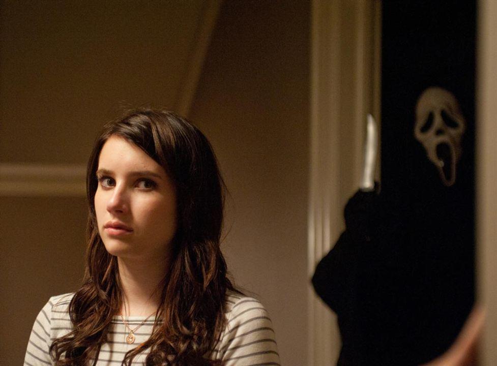 Scream 4 : Foto Emma Roberts, Wes Craven