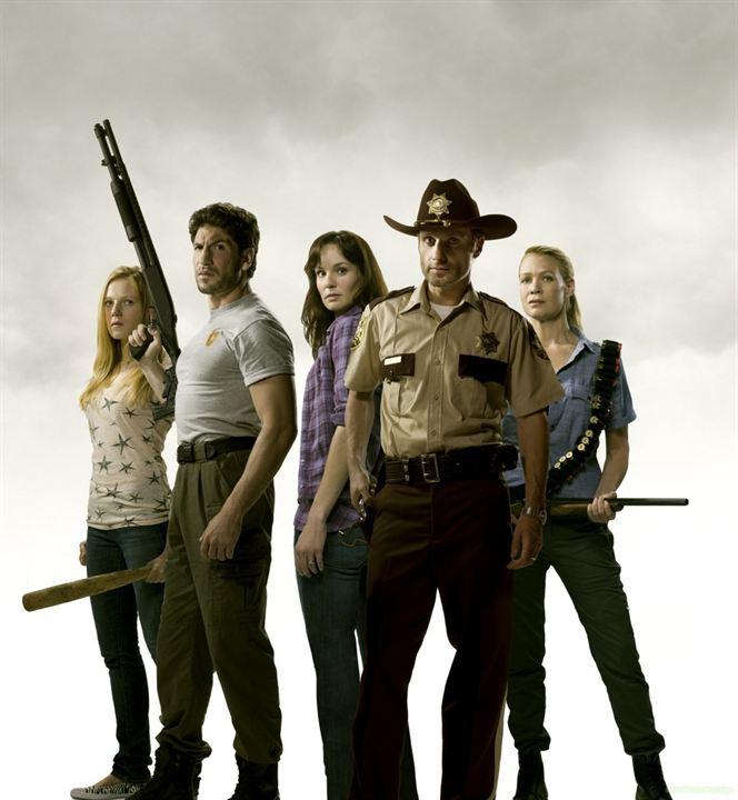 The Walking Dead : Foto Andrew Lincoln, Emma Bell, Jon Bernthal, Laurie Holden, Sarah Wayne Callies