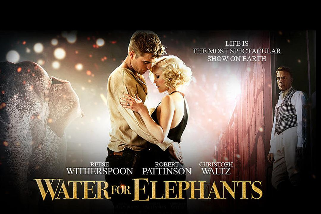 Agua para elefantes : Foto Reese Witherspoon, Robert Pattinson