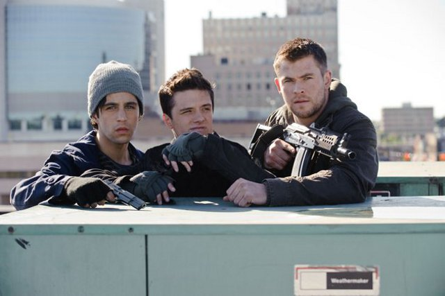 Amanecer rojo : Foto Chris Hemsworth, Josh Hutcherson, Josh Peck, Liam Hemsworth